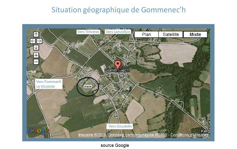 Situation géographique de Gommenec`h